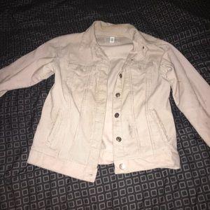 F21 rust pink corduroy jacket
